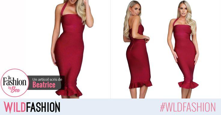 Vara aceasta mizeaza pe o rochie modelatoare visinie. Vei obtine un look elegant si de impact: