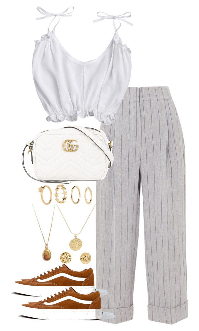 """""""Untitled #5216"""" by theeuropeancloset on Polyvore featuring Brunello Cucinelli, Gucci and H&M"""