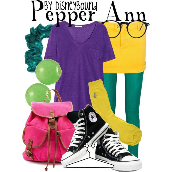 """Pepper Ann"" by lalakay on Polyvore #disney ""Pepper Ann, Pepper Ann! Much too cool for Seventh Grade! Pepper Ann, she's like one in a million!"""