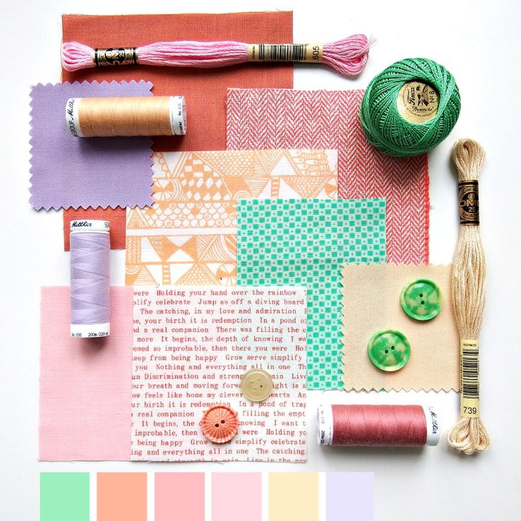 Color curated moodboard by Very Berry for #the100dayproject - 57/100 green pink peach lilac