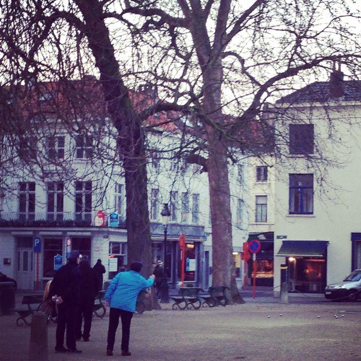 Winter pétanque in Brugge