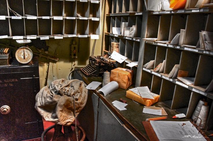 Postmaster office below deck USS Texas