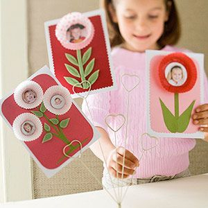 Cupcake Liner Valentine's Cards: for parent gifts