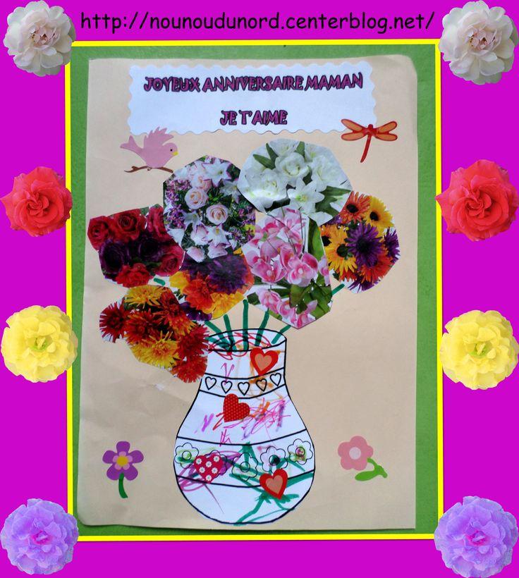 vase rempli de fleurs d couper dans un magazine printemps fleurs activit s manuelles. Black Bedroom Furniture Sets. Home Design Ideas