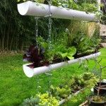 HOW TO MAKE A HANGING GUTTER GARDEN