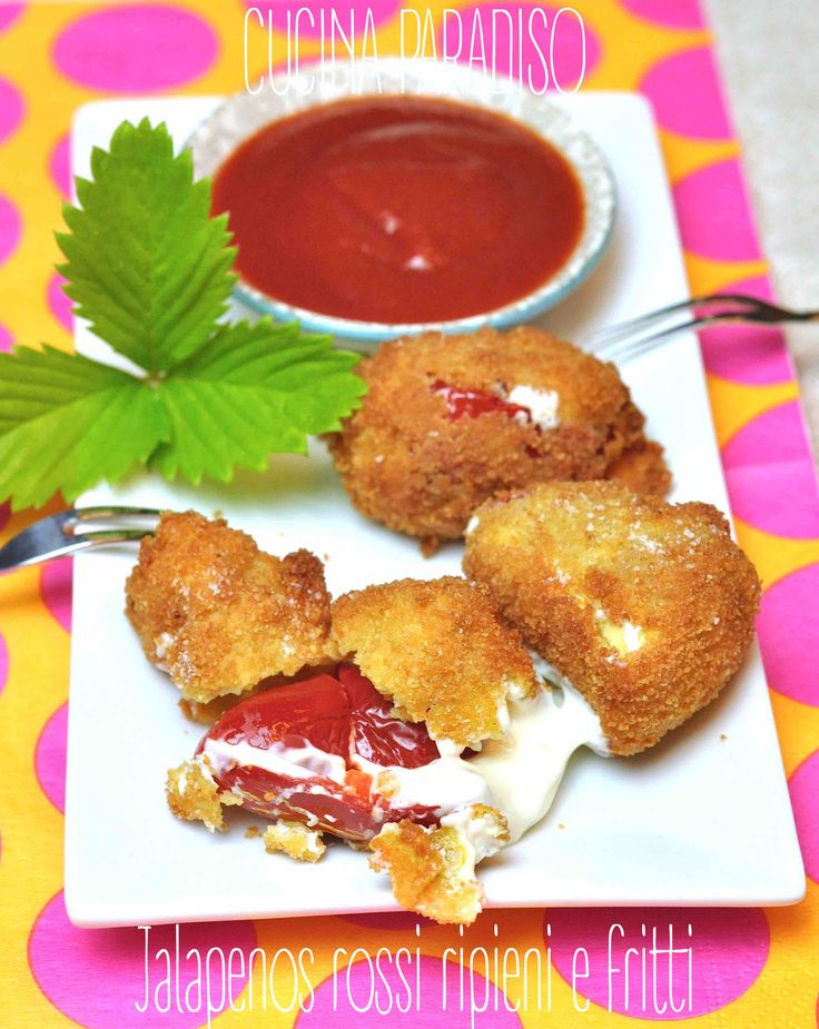 Jalapenos rossi ripieni e fritti #cucinaparadiso #jalapenos #tex-mex #cucinamessicana #fritto #fried #peperoncini