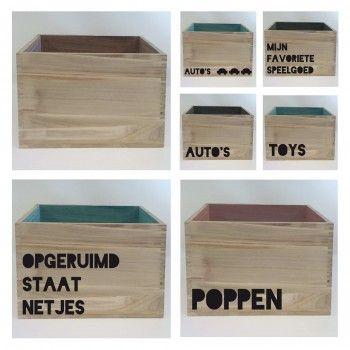 Stickers voor op een opbergbox DIY