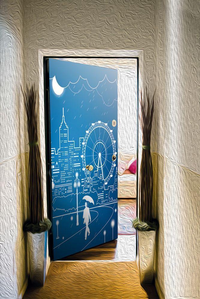 Door sticker – Full moon 3