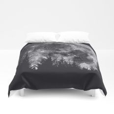La Luna Duvet Cover    Cover yourself in creativity with our ultra soft microfiber duvet covers. Hand sewn and meticulously crafted, these lightweight duvet covers vividly feature your favorite designs with a soft white reverse side. A durable and hidden