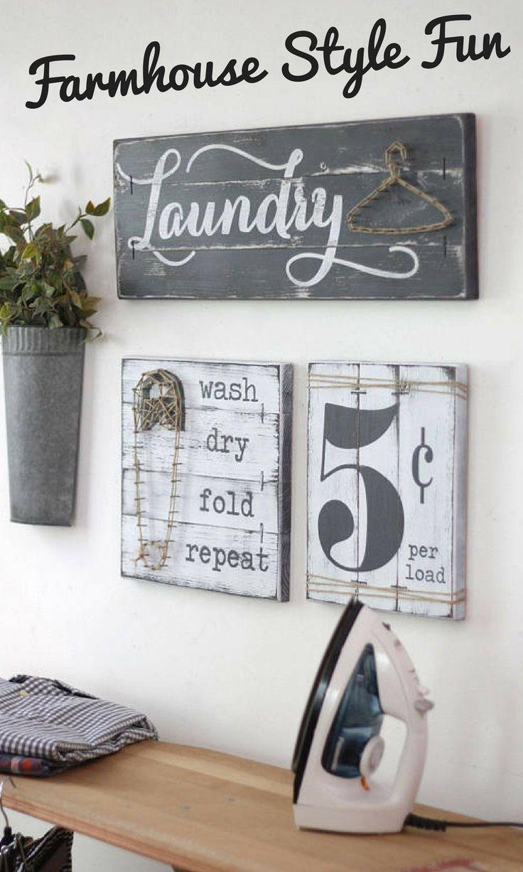 LAUNDRY SIGN SET, Laundry Room Décor.