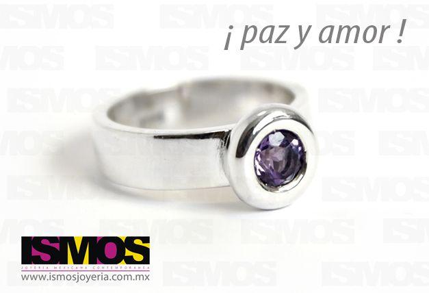 ISMOS Joyería: anillo de plata con amatista // ISMOS Jewellery: silver and amethyst ring
