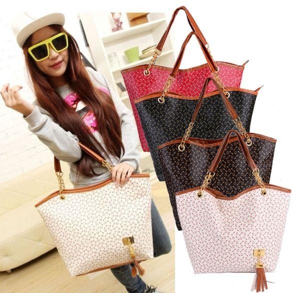 Hot Korean Lady Women Synthetic Leather Messenger Handbag Shoulder Bag Totes Purse