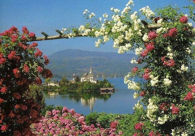Maria Wörth, Carinthia, Austria. Stunning view!