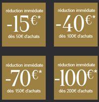#Codepromo   #Codereduc   #Promo   #LaRedoute  : 15€ de  #reduction  pour 50€ d'achat, 40€ pour 100€, 70€ pour 150€, et jusqu'à 100€ pour 200€ d'achats, sur une sélection d'articles porteurs du sticker