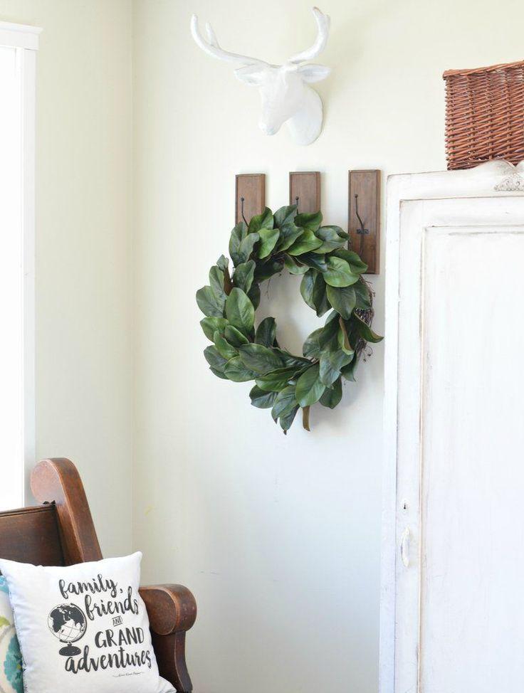 Magnolia wreath tutorial from Aimee Weaver Designs