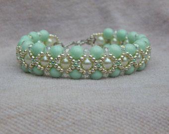 I'm a Bracelet Girl bead woven bracelet by ImaBraceletgirl on Etsy