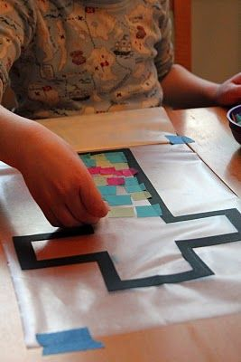 stained glass cross for kids- EASY easter activity!