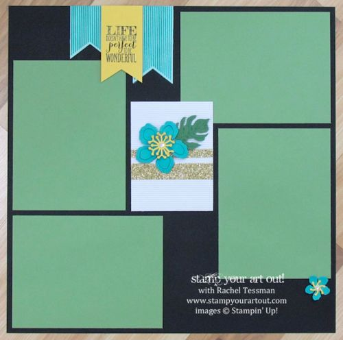 Click here to see 12x12 scrapbook pages made with Botanical Blooms stamp set, Botanical Builder framelits, Glitter Tape and that fun Corrugated Paper… #stampyourartout #stampinup - Stampin' Up!® - Stamp Your Art Out! www.stampyourartout.com