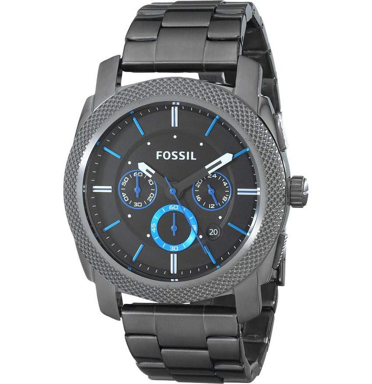 Fossil Men's FS4931 Machine Gunmetal-Tone Stainless Steel Bracelet Watch This is such an awesome watch. It can be  dressy yet sporty.
