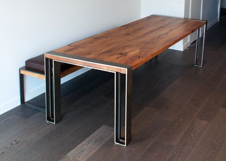 charles table bench - Stainless Steel Table Top