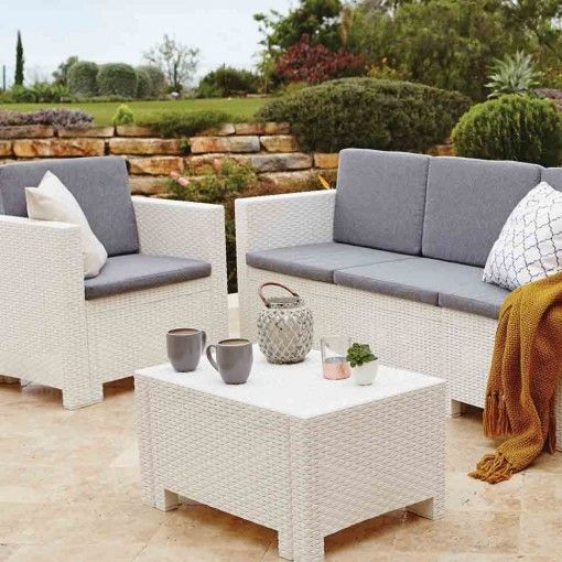 Get A Modern Feel In Your Garden With White Cube Furniture Dunelm Mill  Milan 5