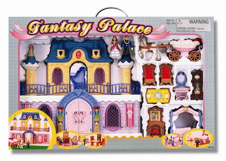 Keenway Fantasy Palace Дворец с каретой и предметами  Игровые наборы «Fantasy Palace» для маленькой принцессы.  Каждая девочка представляет себя прекрасной принцессой, которая живет в роскошном дворце.  Поэтому она так любит кукол, наряжает их в красивые платья, но ей все-таки не хватает королевского замка, где можно уютно расположить и принца, и принцессу.  Именно эти детские мечты и попытался осуществить известный производитель Keenwаy, представив на рынок игровой набор «Fantasy Palace»…