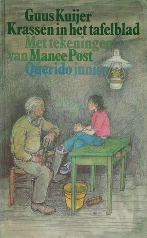 Krassen in het tafelblad van Guus Kuijer (auteur) en Mance Post (illustrator) (middenbouw)