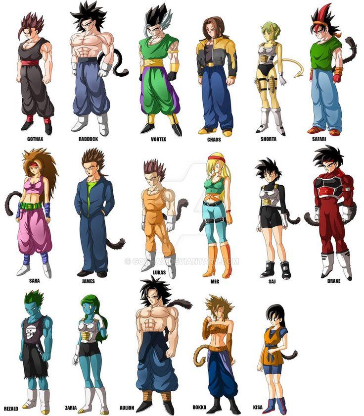 Dragon Ball Z Anime Characters : Best dbz oc images on pinterest dragon ball z