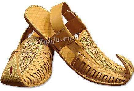 Gents Chappal- Light Brown | Pakistani Indian Khussa Shoes