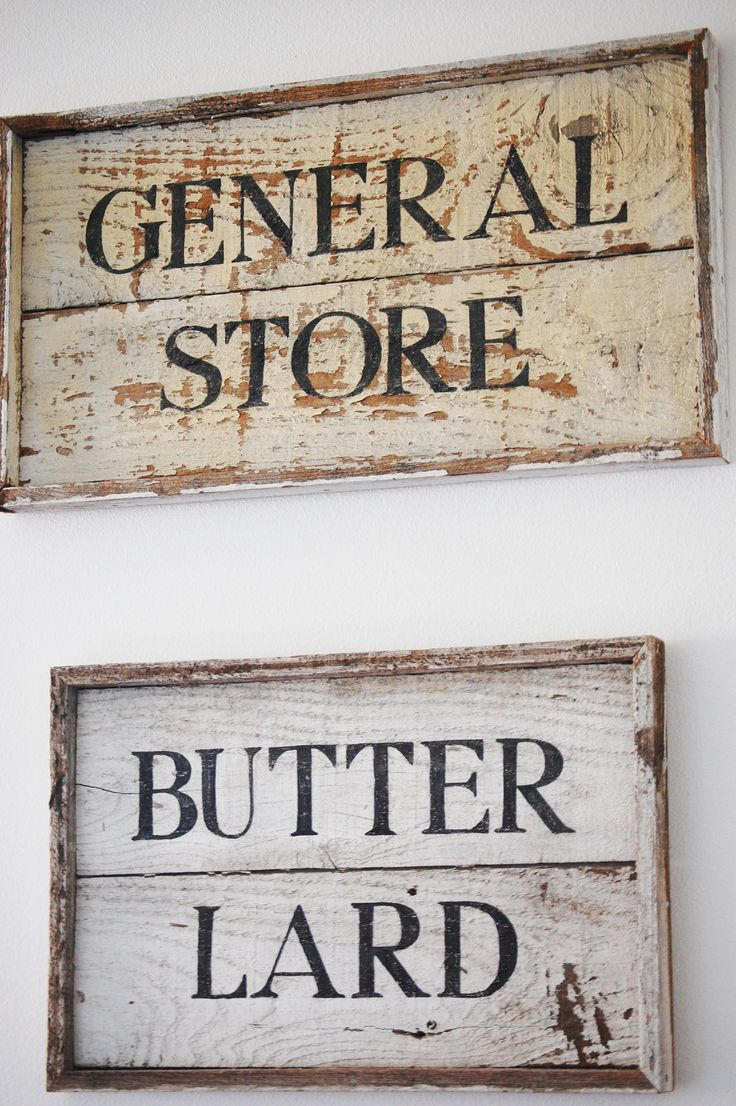 butter lard wood kitchen sign