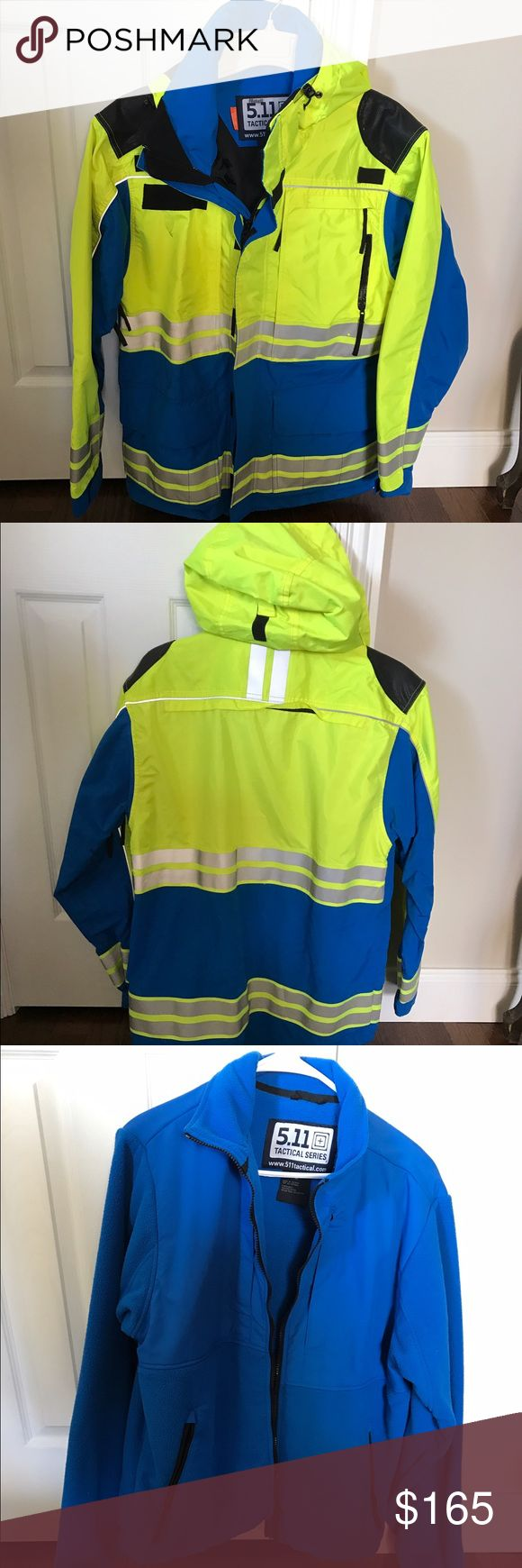 5.11 Tactical EMT/Fire Waterproof Coat 5.11 Tactical EMT/Fire Unisex Waterproof Coat with removable liner jacket. Worn very few times. In excellent condition. Price is FIRM. 5.11 Tactical Jackets & Coats