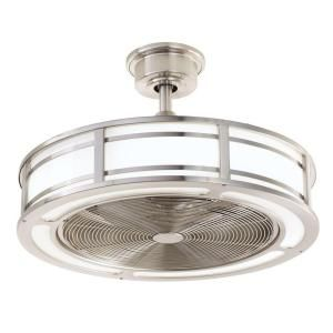 Home Decorators Collection Brette 23 in. LED Indoor/Outdoor Brushed Nickel Ceiling Fan AM382A-BN at The Home Depot - Mobile