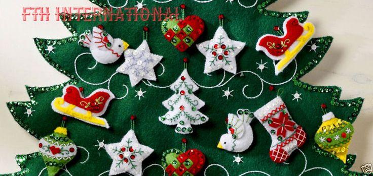 Bucilla Nordic рождественской елки ~ чувствовал Адвент календарь набор 86584 европейских новый 2015
