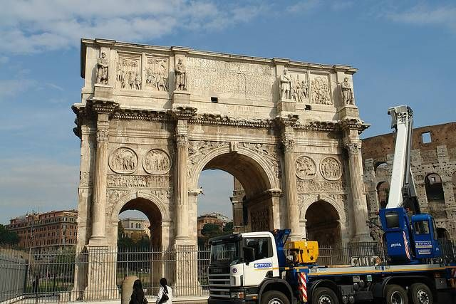 Arch of Constantine -- Works of restoration were first carried out in the 18th century; the last excavations have taken place in the late 1990s, just before the Great Jubilee of 2000.