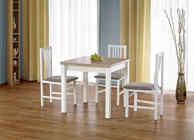 Zestaw Gracjan stół z krzesłami DARIUSZ 2 Halmar jest świetnym rozwiązaniem do małych pomieszczeń, gdzie zależy nam na jak najlepszym zagospodarowaniu dostępnego miejsca.