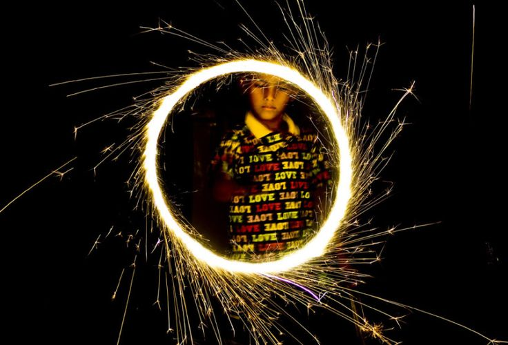 A Pakistani Hindu boy plays with fire crackers during Diwali festival celebrations in Karachi, Pakistan. The Diwali festival, also known as the 'Festival of Lights,' symbolises the victory of Good over Evil.