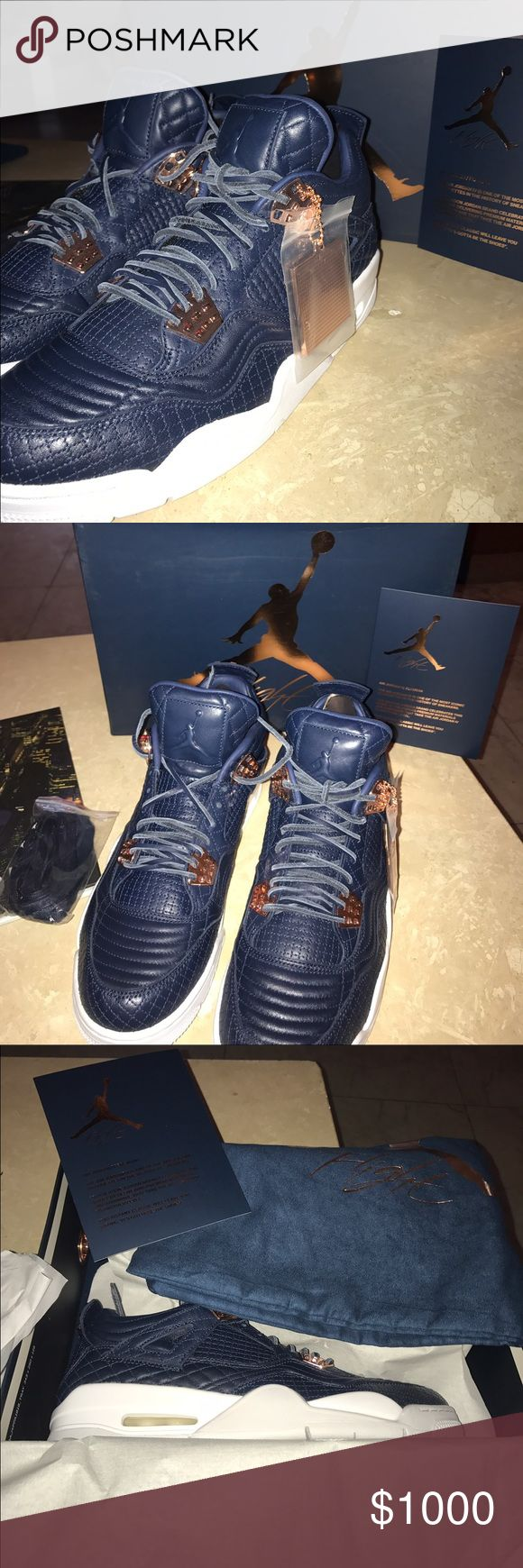 Jordan retro 4 obsidian Jordan retro 4 obsidian brand new in box 1000 each last two 10.5 pairs left in circulation on the whole market extremely rare shoe not just anybody has them Jordan Shoes Sneakers