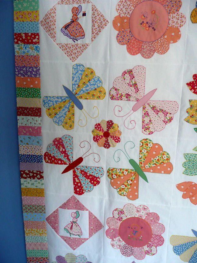 Dresden butterfly quilt