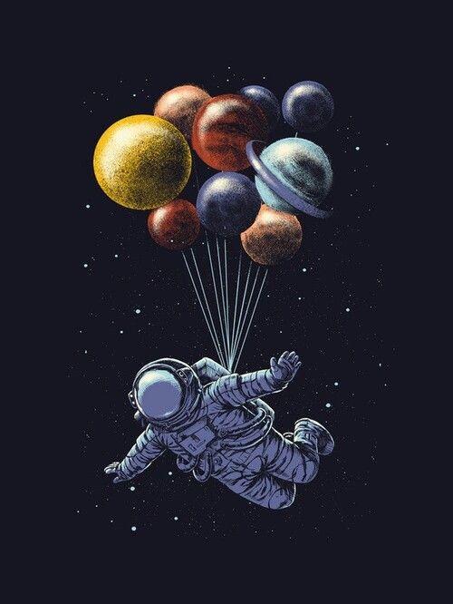 Astronauta+ globos