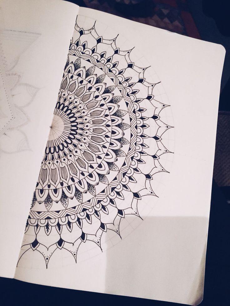 1000+ ideas about Half Mandala Tattoo on Pinterest ... - photo#5