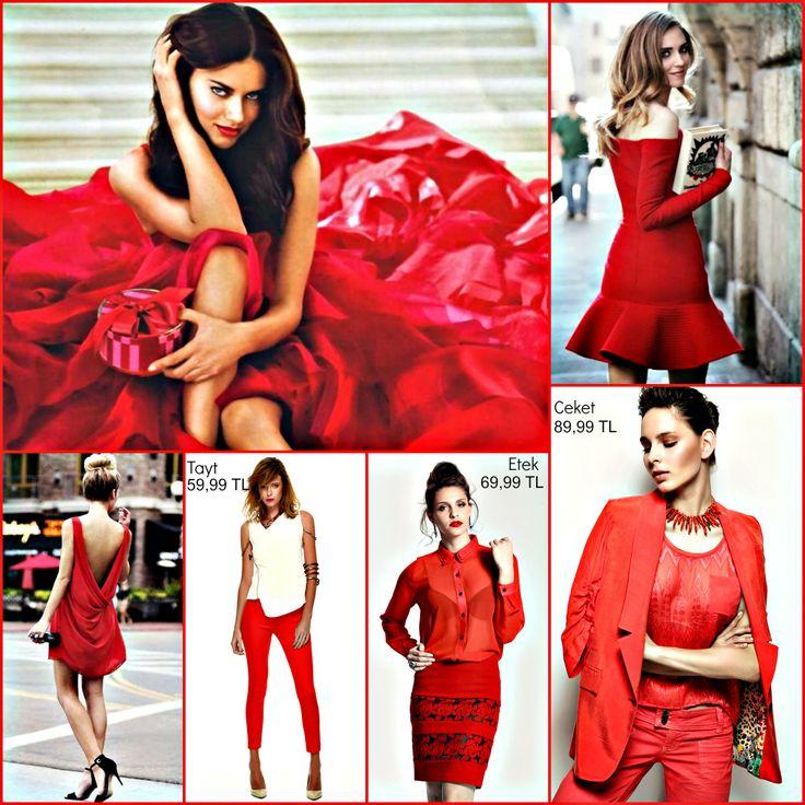 Bugünün rengi #kirmizi! Dikkat çekmeyi seven, iddialı tüm kadınların Jus De Pommes kampanyamıza göz atmasını öneririz ;)