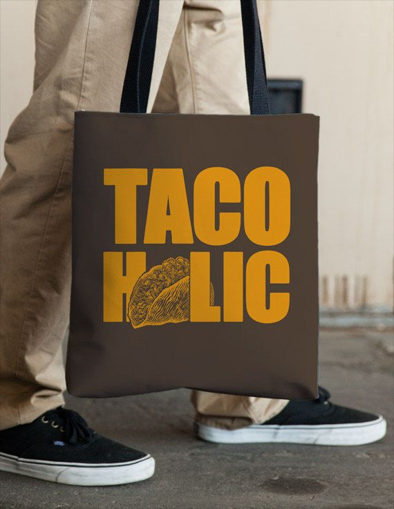 TACO  HOLIC  Tote by Vincent Carrozza