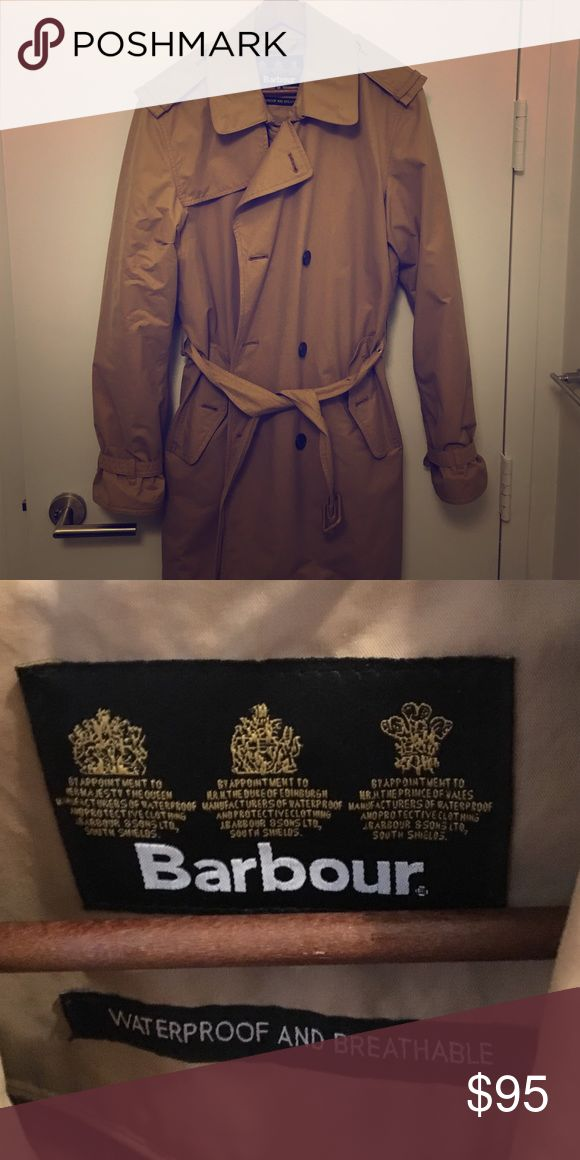 Barbour Raincoat Barbour Men's Rain Overcoat. 3/4 length. Double breasted with belt. Barbour Jackets & Coats Raincoats