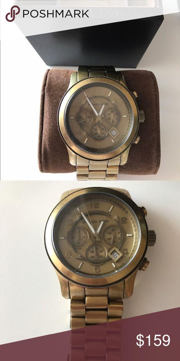 Nwt MK oversized watch Bronze steel chronograph watch mk8227 Michael Kors Accessories Watches