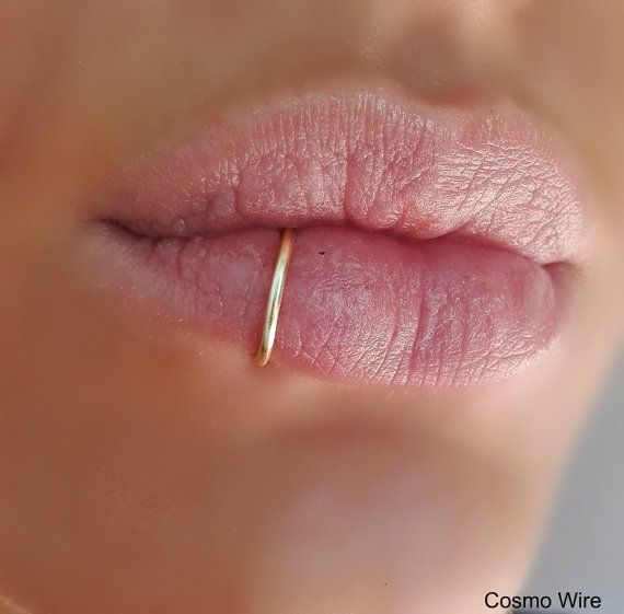 SILVER PLATED Fake lip ring.Fake lip piercing.Ring. Gold, Silver,Black,Antique Brass Lip Ring Fake Piercing/HIGH quality wire(Non Tarnish).