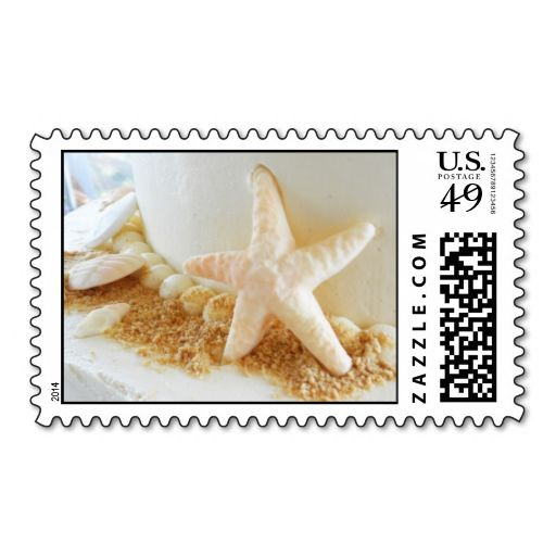 Bride Groom Starfish Beach Wedding Cake Stamp This Is Customizable To
