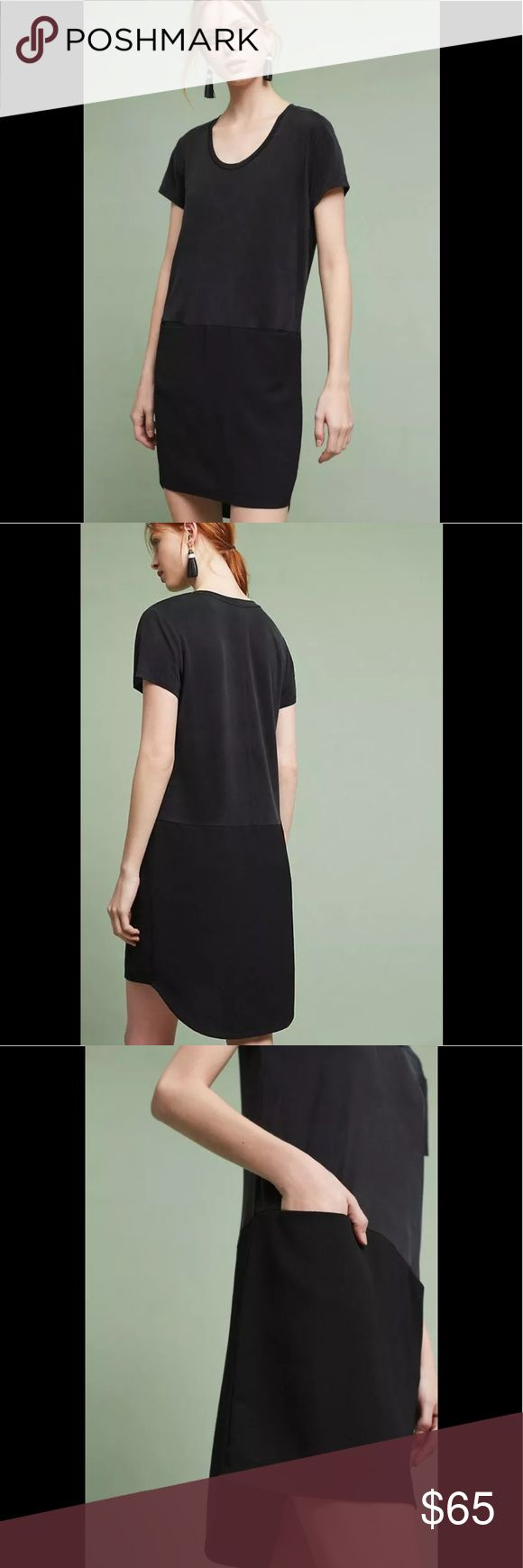 """NEW Anthropologie Loren Tunic Dress Dolan Left Anthropologie Loren Tunic Dress By Dolan Left Coast 🌻Brand New Condition without tags. Dolan is the eponymous label of designer Jodie Dolan. Imbued with the laidback, effortlessly sexy vibe of her Los Angeles home base, Dolan's clothes are simple, original and confident. Cupro, spandex; polyester lining, Side pockets, pullover styling Machine wash Style No. 4130212061657 » Measured Flat; Bust: 21"""" Hips: 21""""  Falls 37.5"""" from shoulder in front…"""