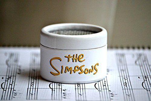 Piccolo #carillon di cartone decorato in bianco con la #melodia della sigla dei #Simpons.
