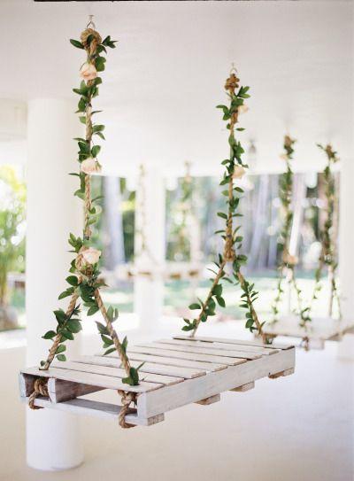 Swing decor: http://www.stylemepretty.com/2014/10/16/romantic-garden-wedding-by-the-water/ | Photography: Ozzy Garcia - http://www.ozzygarcia.com/