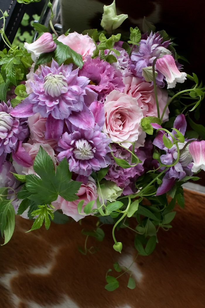 Clematis and Roses. Divine Colour inspiration.